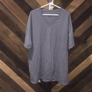 Grey / pale blue short sleeve tee 3xL v neck